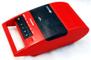70s-Panasonic-Mod-Red-RQ-44A-Portable-Cassette-Player-Recorder